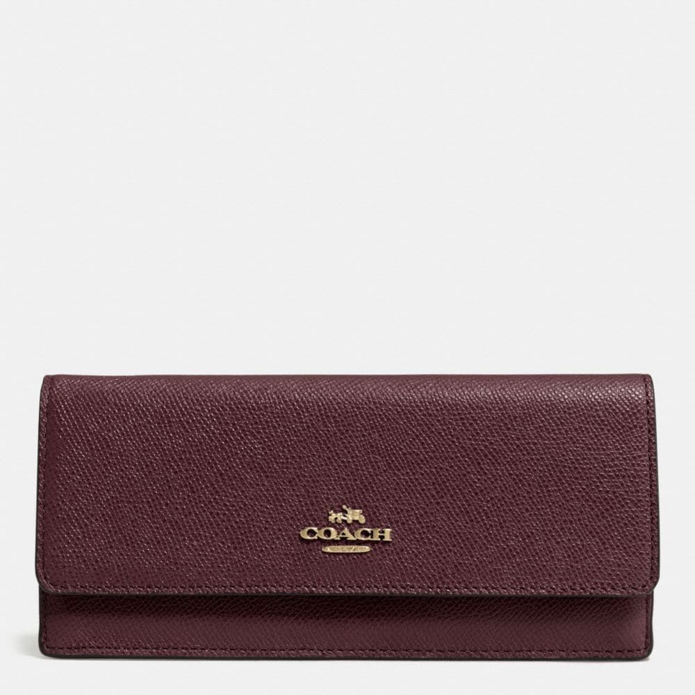 SOFT WALLET IN TEXTURED EMBOSSED LEATHER