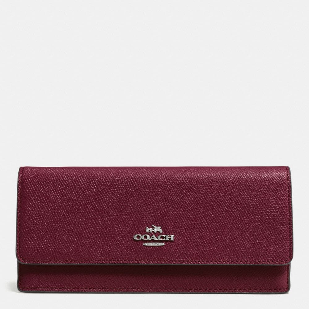 SOFT WALLET IN CROSSGRAIN LEATHER