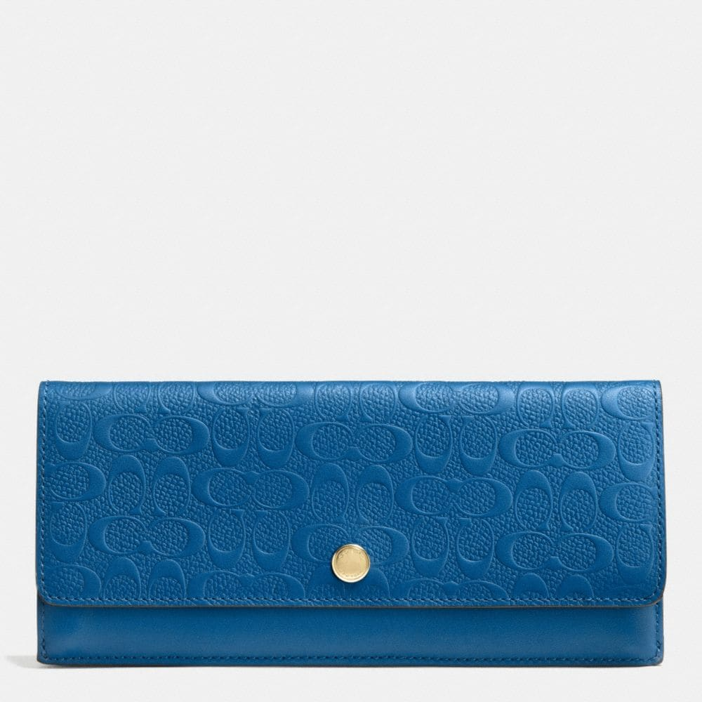 SOFT WALLET IN LOGO EMBOSSED LEATHER
