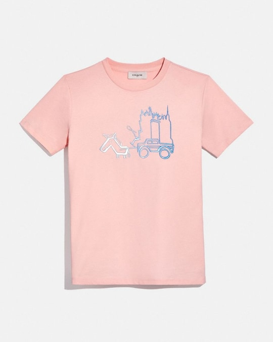 SKYLINE HORSE AND CARRIAGE T-SHIRT