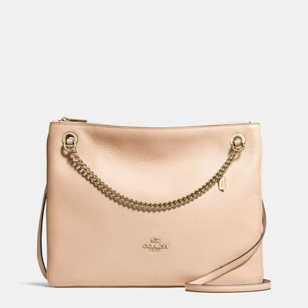 CONVERTIBLE CROSSBODY IN PEBBLE LEATHER
