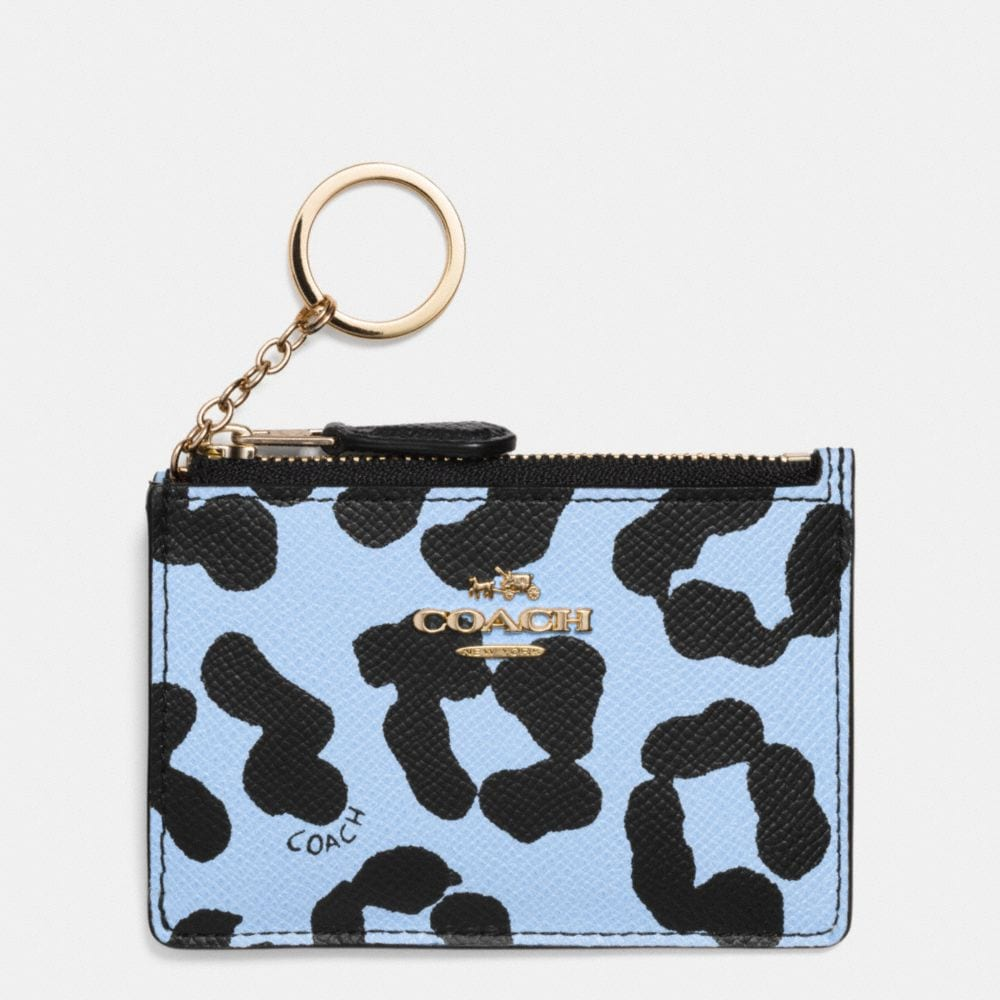 MINI SKINNY IN OCELOT PRINT CROSSGRAIN LEATHER