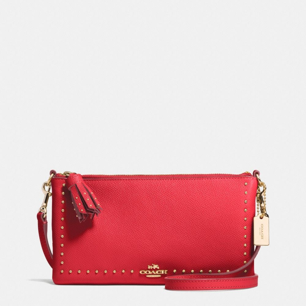 EDGE STUDS HERALD CROSSBODY IN LEATHER
