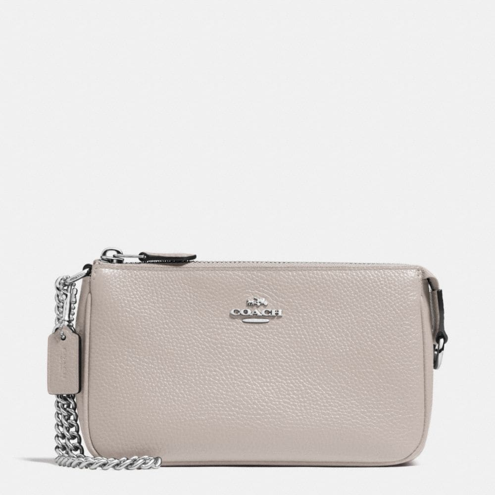 NOLITA WRISTLET 19 IN POLISHED PEBBLE LEATHER