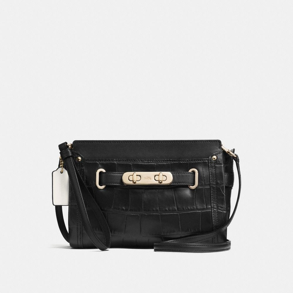 COACH SWAGGER WRISTLET IN CROC EMBOSSED LEATHER