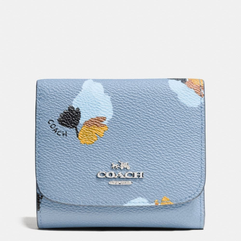 SMALL WALLET IN FLORAL PRINT COATED CANVAS