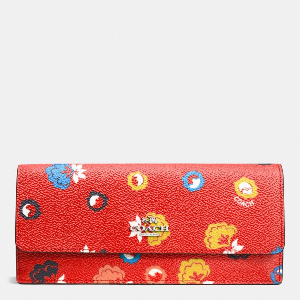 SOFT WALLET IN WILD PRAIRIE PRINT COATED CANVAS