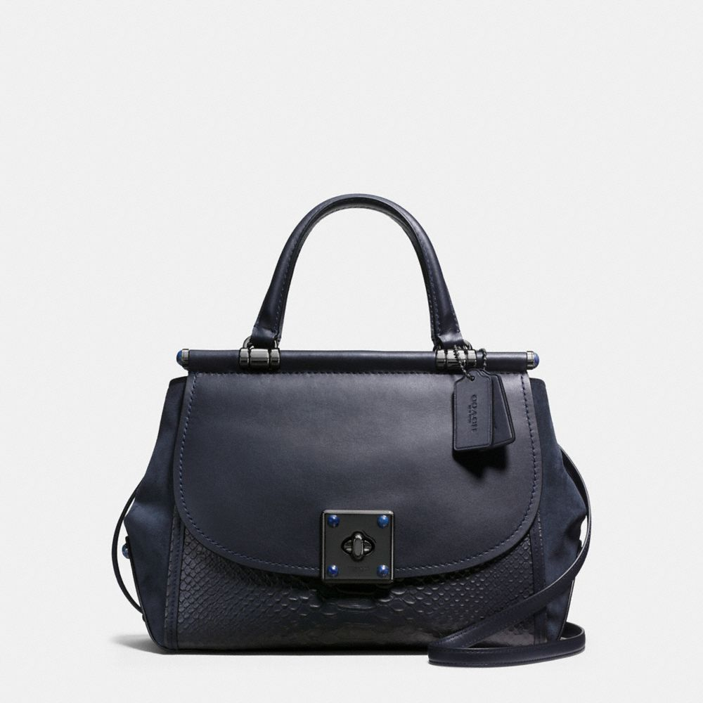 DRIFTER CARRYALL IN SNAKE EMBOSSED LEATHER