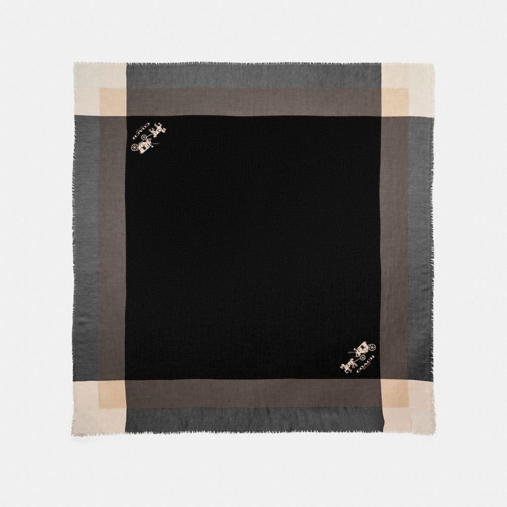 WINDOWPANE CHALLIS SCARF