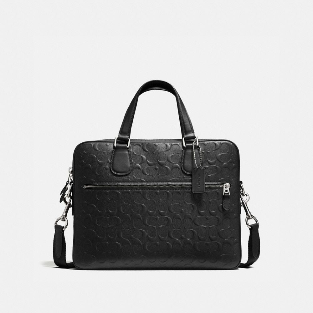 HUDSON 5 BAG IN SIGNATURE CROSSGRAIN LEATHER