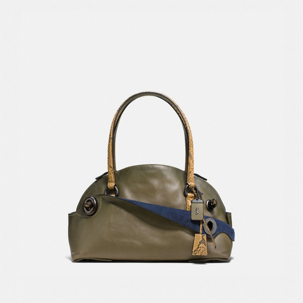 OUTLAW SATCHEL IN COLORBLOCK PYTHON
