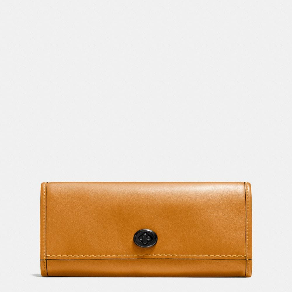TURNLOCK WALLET IN GLOVETANNED LEATHER