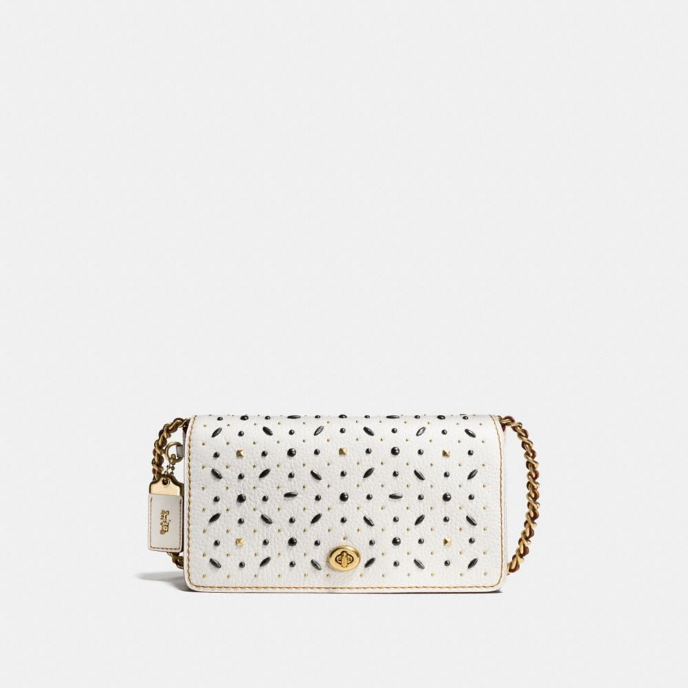 RIVETS DINKY CROSSBODY IN PEBBLE LEATHER