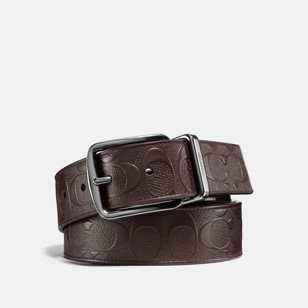 WIDE HARNESS CUT-TO-SIZE REVERSIBLE SIGNATURE CROSSGRAIN BELT