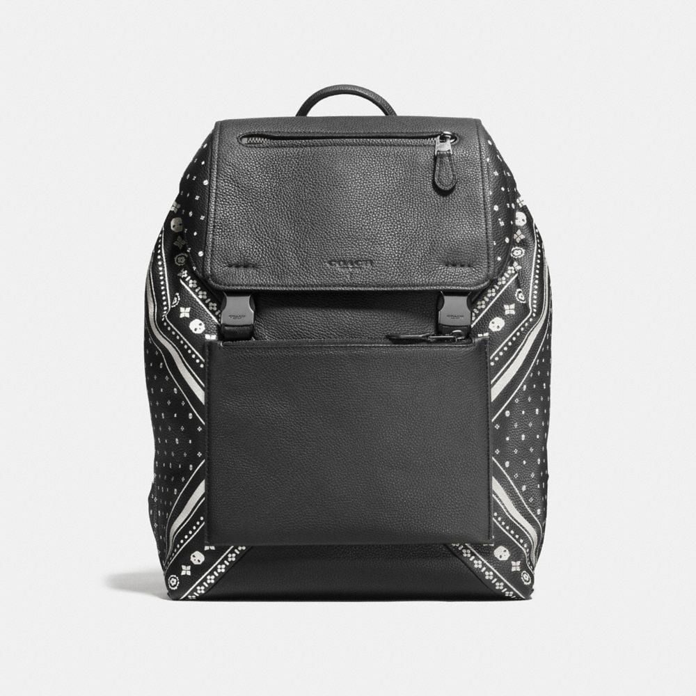 MANHATTAN BACKPACK IN BANDANA PATCHWORK LEATHER