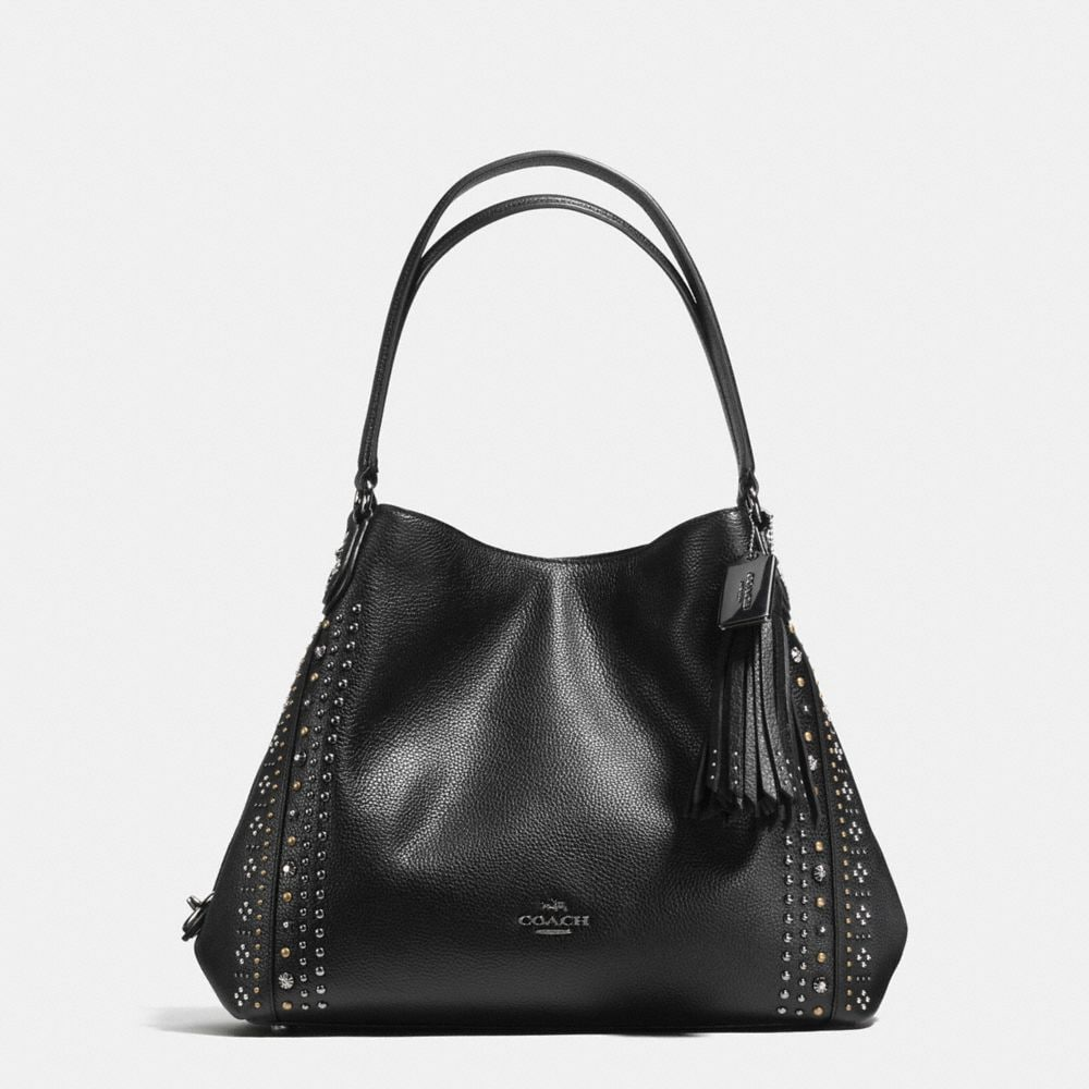EDIE SHOULDER BAG 31 WITH BANDANA RIVETS