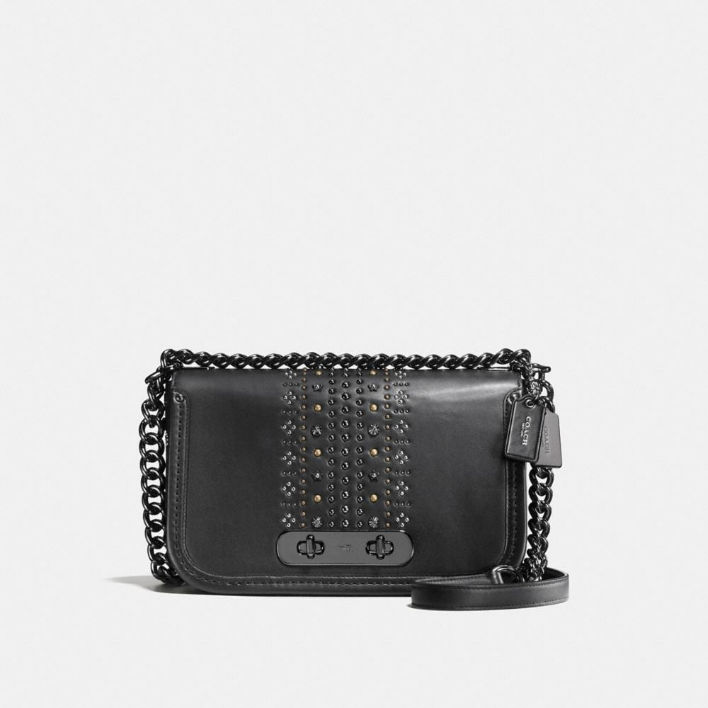 COACH SWAGGER SHOULDER BAG WITH BANDANA RIVETS