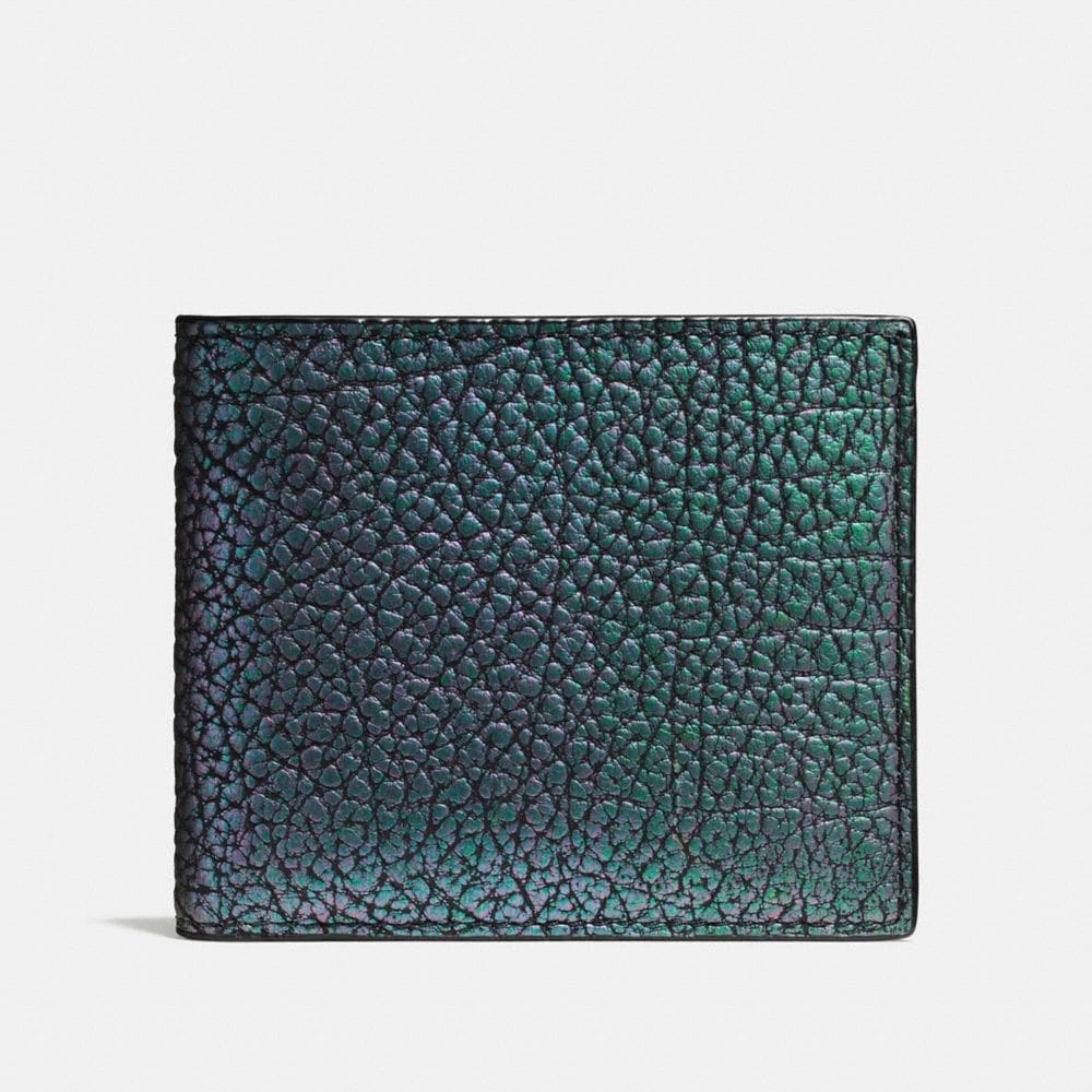 3-IN-1 WALLET IN HOLOGRAM LEATHER