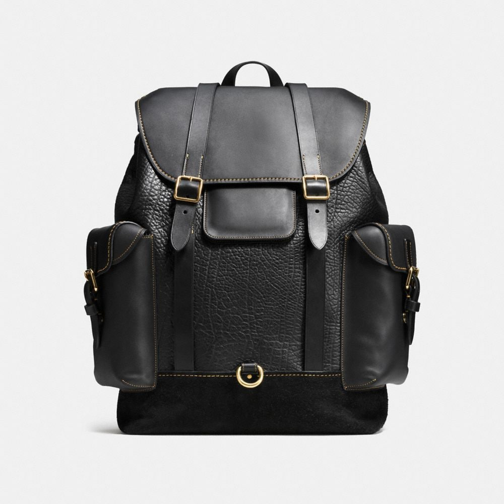 GOTHAM BACKPACK IN MIXED MATERIALS
