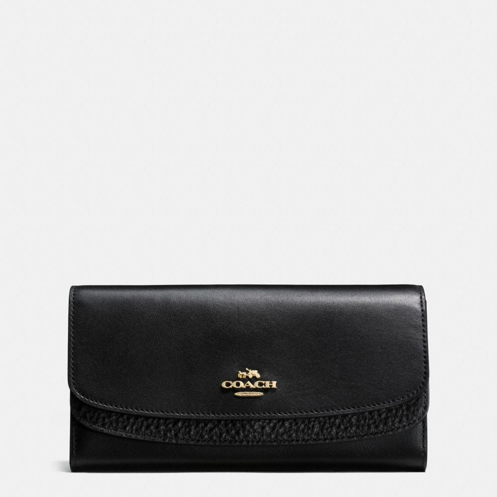 DOUBLE FLAP WALLET IN GLOVETANNED LEATHER