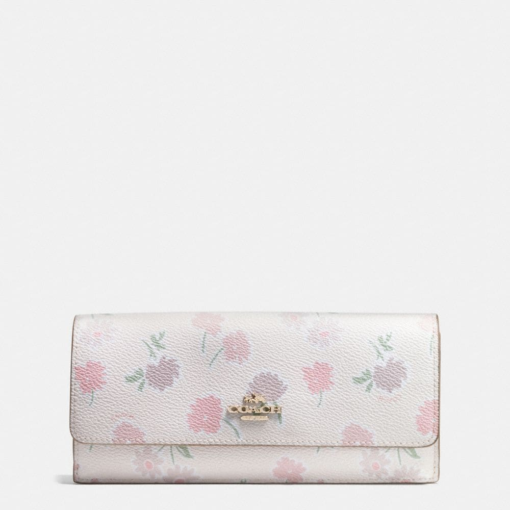 SOFT WALLET IN DAISY FIELD PRINT COATED CANVAS