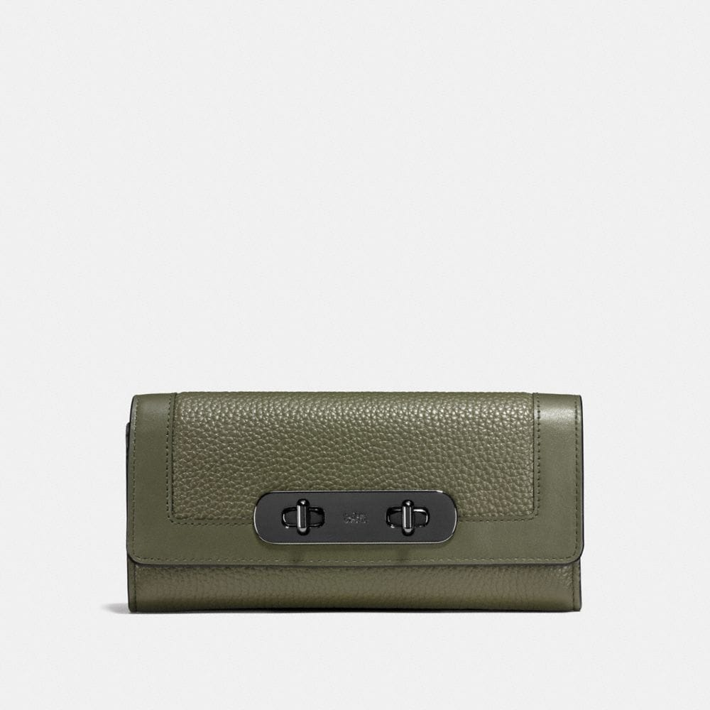 COACH SWAGGER SLIM ENVELOPE WALLET IN COLORBLOCK LEATHER