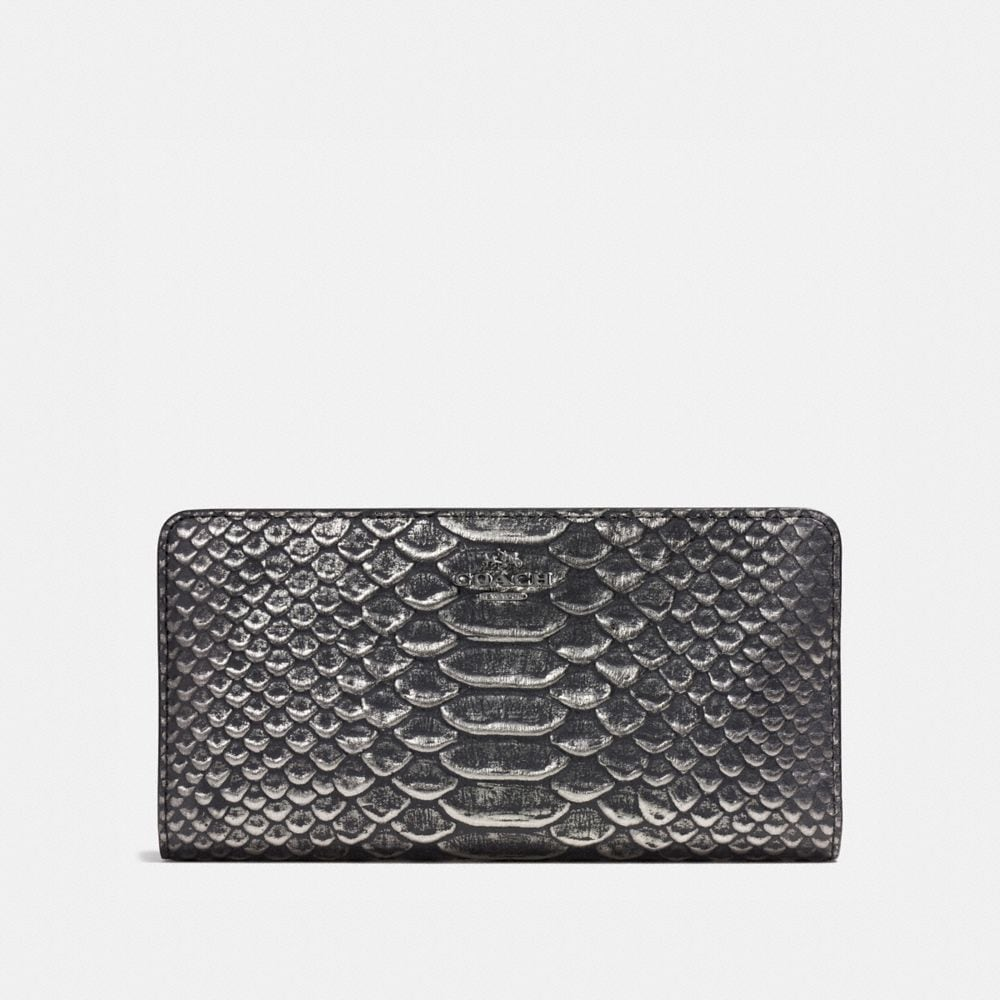 SKINNY WALLET IN EXOTIC EMBOSSED LEATHER