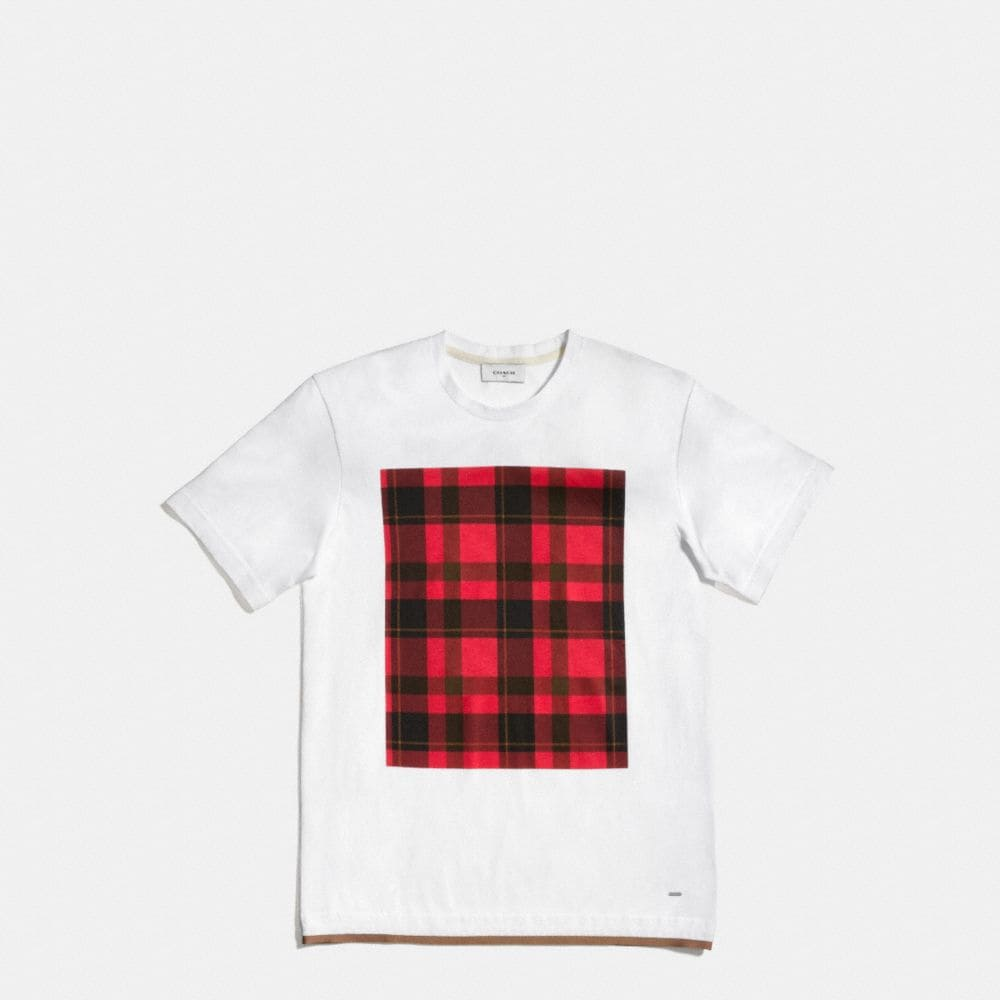PLAID TEE SHIRT