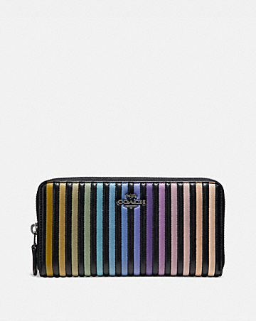 ACCORDION ZIP WALLET WITH OMBRE QUILTING