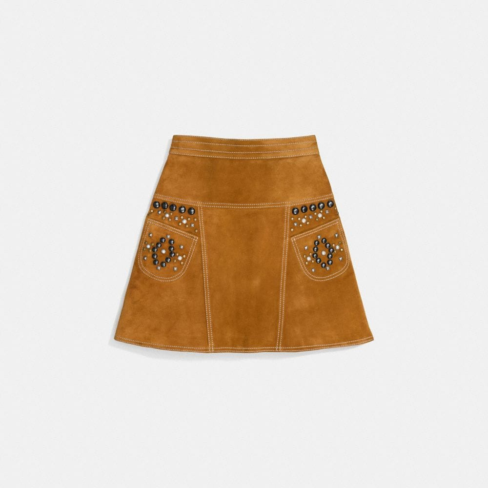 A-LINE SKIRT WITH STUDS