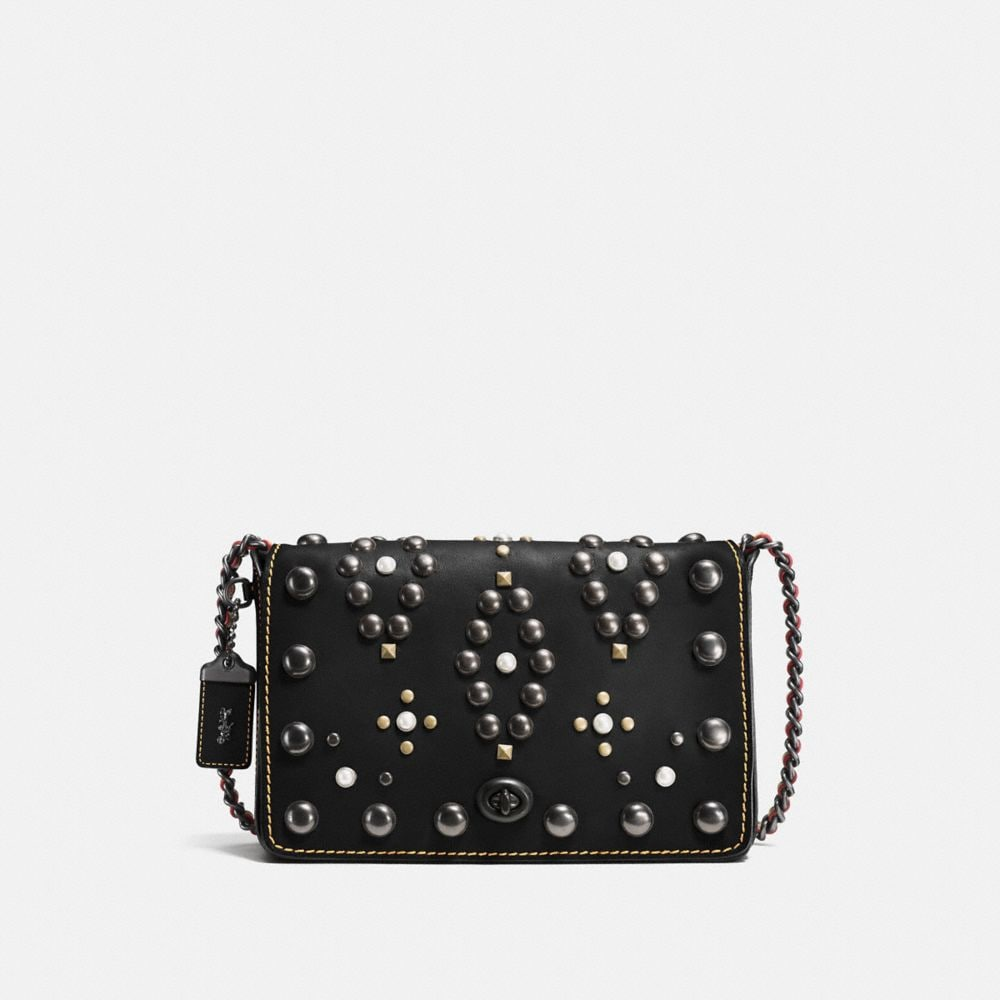 WESTERN RIVETS DINKY CROSSBODY 24 IN GLOVETANNED LEATHER