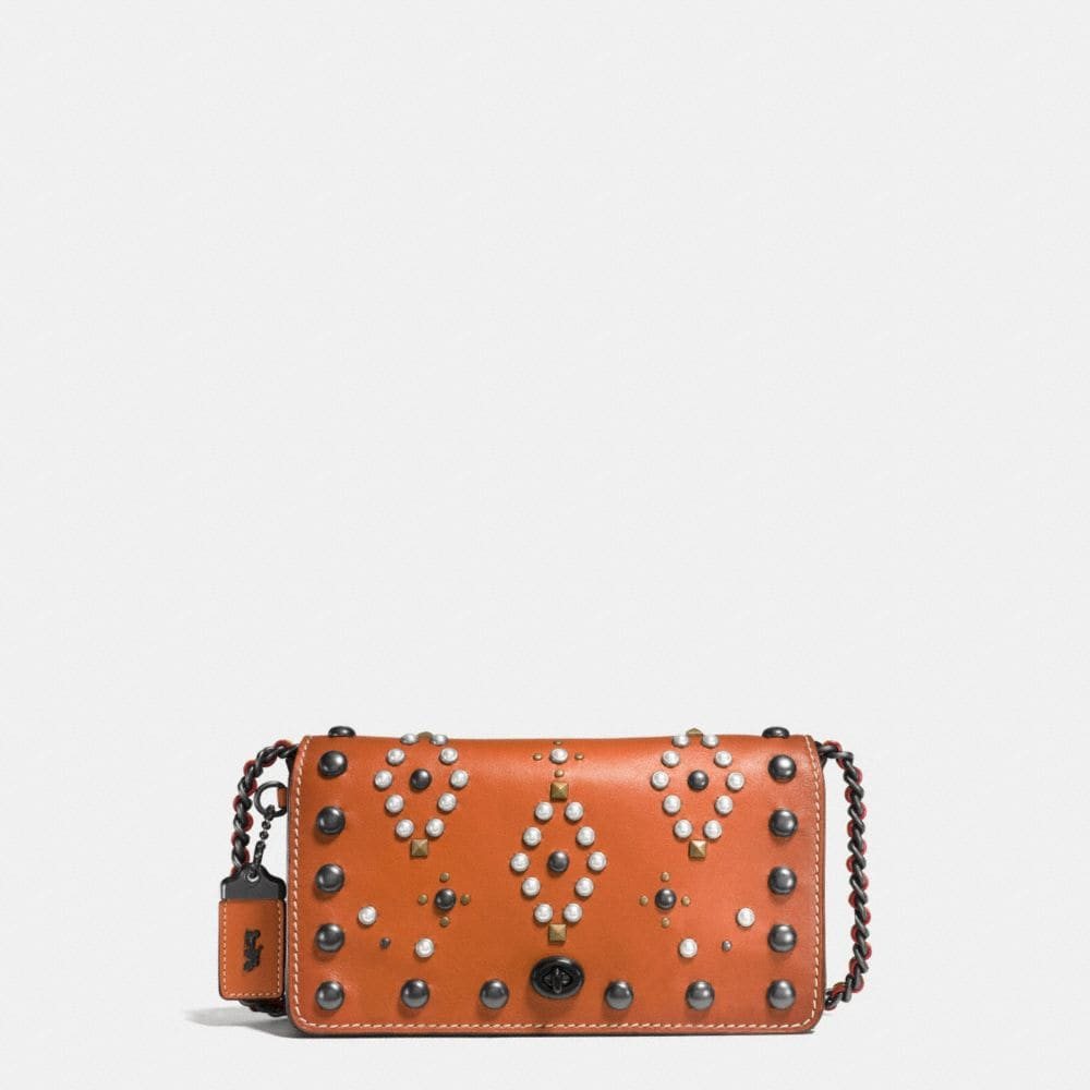 WESTERN RIVETS DINKY CROSSBODY IN GLOVETANNED LEATHER