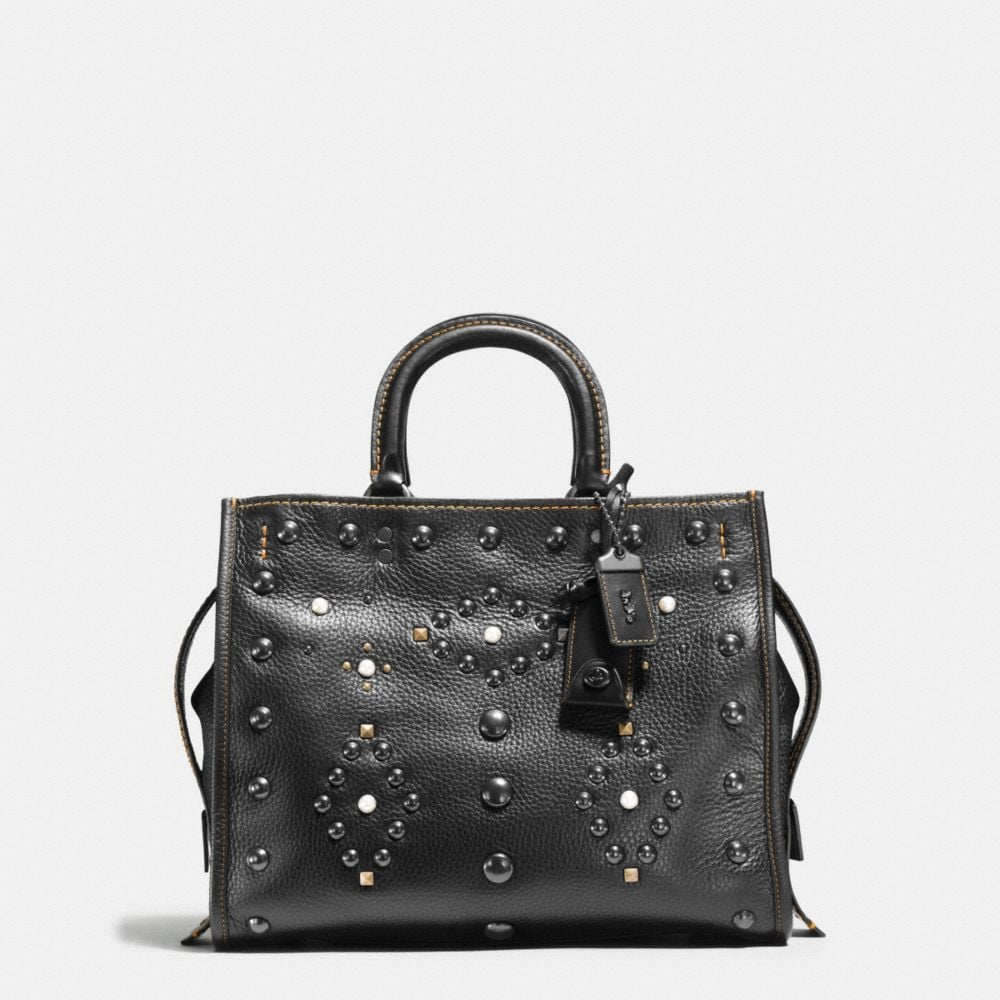WESTERN RIVETS ROGUE BAG IN PEBBLE LEATHER