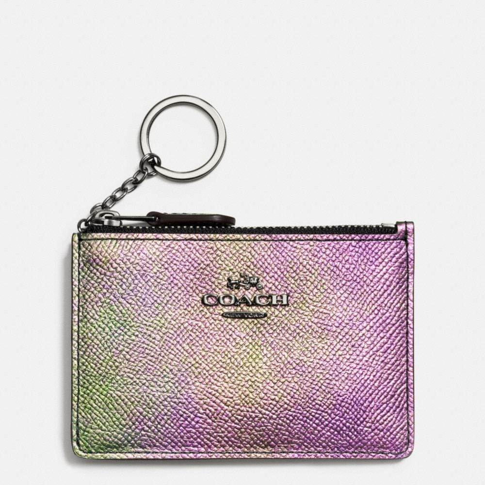 MINI ID SKINNY IN HOLOGRAM LEATHER
