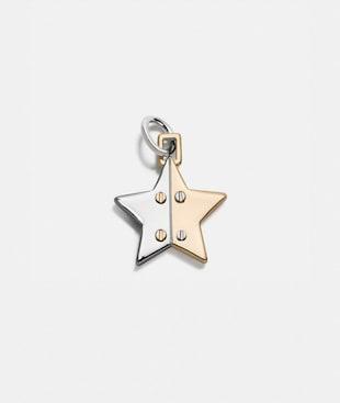 TWO TONE HINGED STAR CHARM