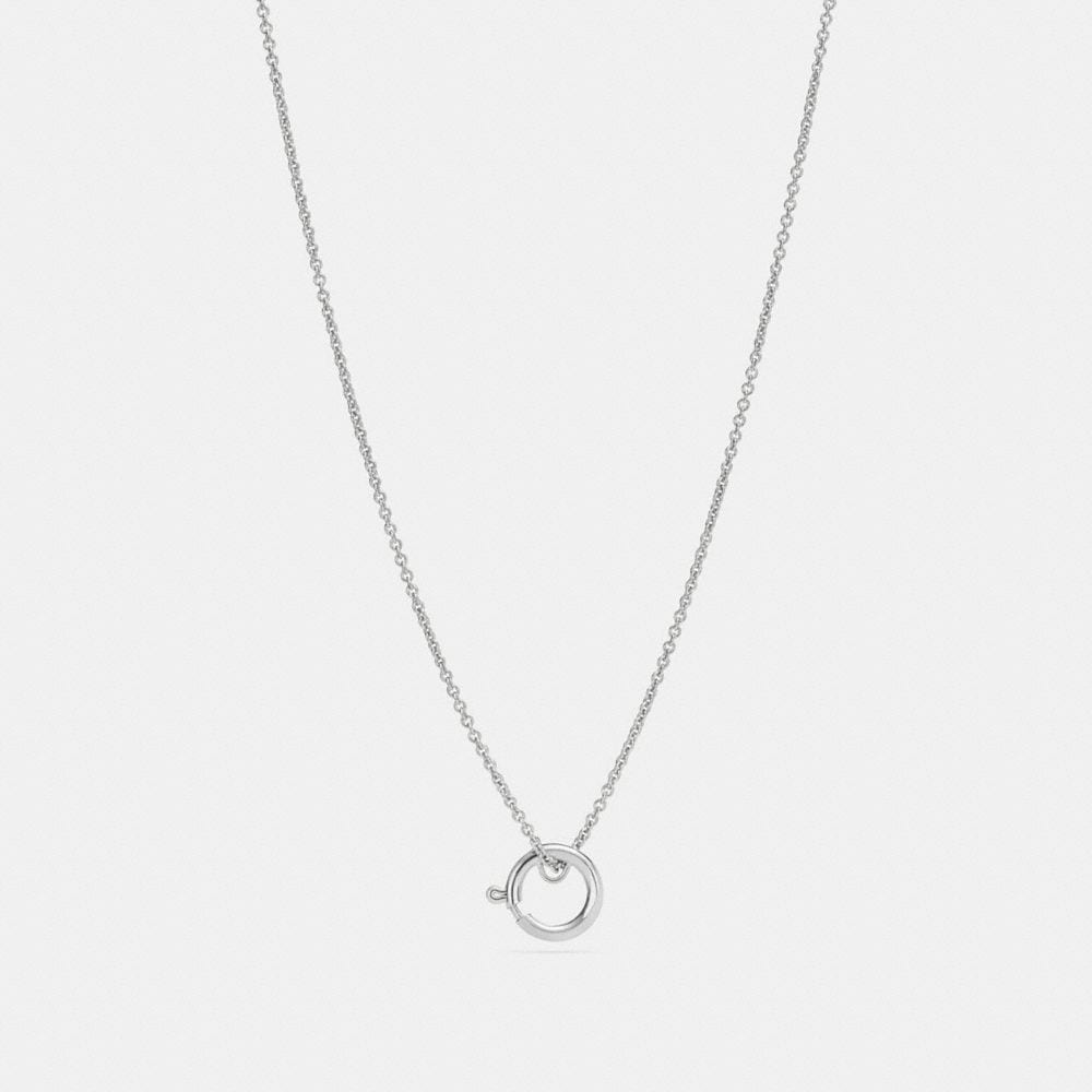 CHARM BASE HOOP NECKLACE