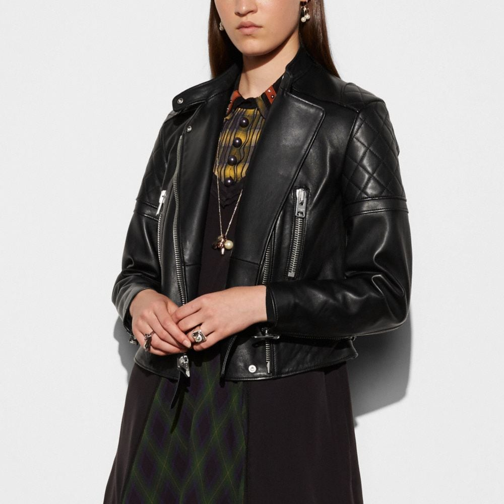 ICON LEATHER BIKER JACKET