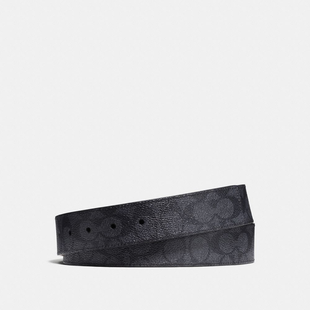 SIGNATURE COATED CANVAS REVERSIBLE BELT STRAP