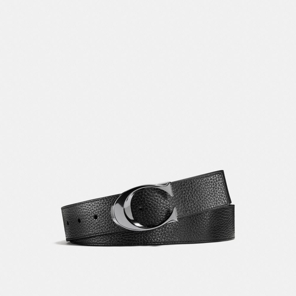 SCULPTED C PEBBLE LEATHER CUT-TO-SIZE REVERSIBLE BELT