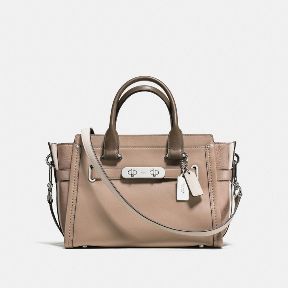 COACH SWAGGER 27 IN COLORBLOCK LEATHER