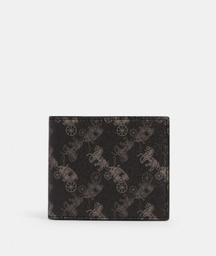ID BILLFOLD WALLET WITH HORSE AND CARRIAGE PRINT