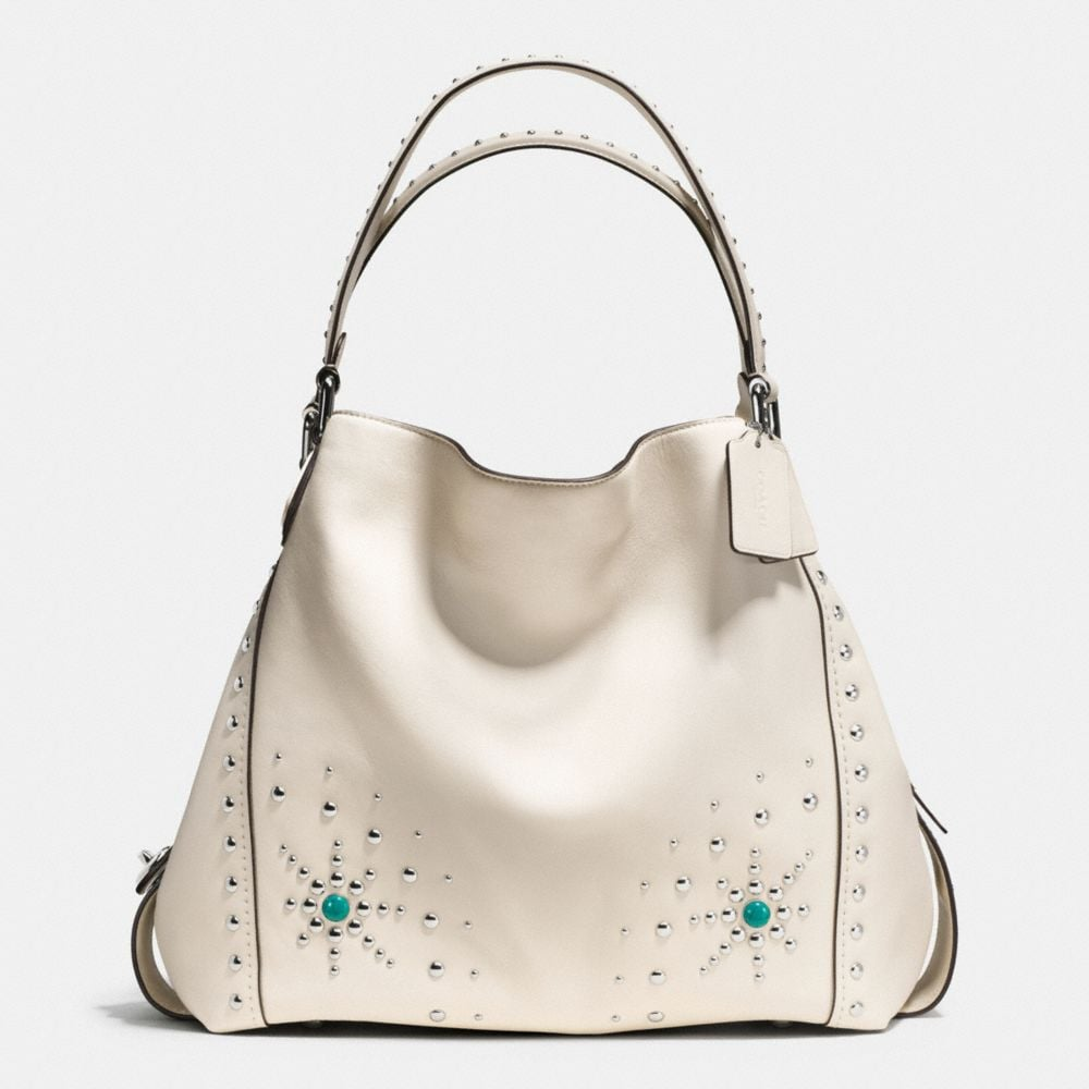 WESTERN RIVETS EDIE SHOULDER BAG 42 IN GLOVETANNED LEATHER