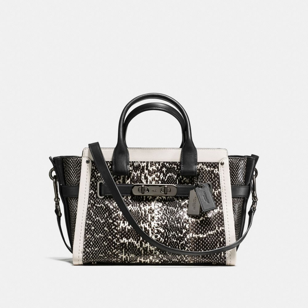 coach official outlet 64sk  COACH SWAGGER 27 IN GENUINE SNAKE