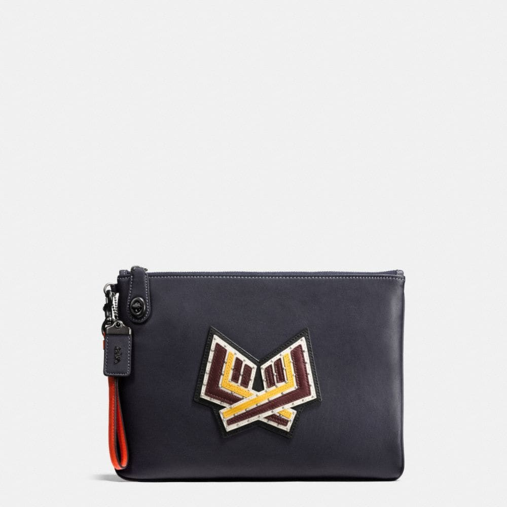 VARSITY PATCHES TURNLOCK WRISTLET 30 IN GLOVETANNED LEATHER