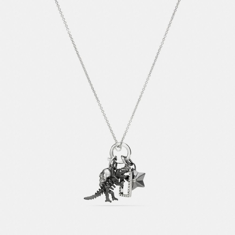 REXY SKULL CHARM SET NECKLACE