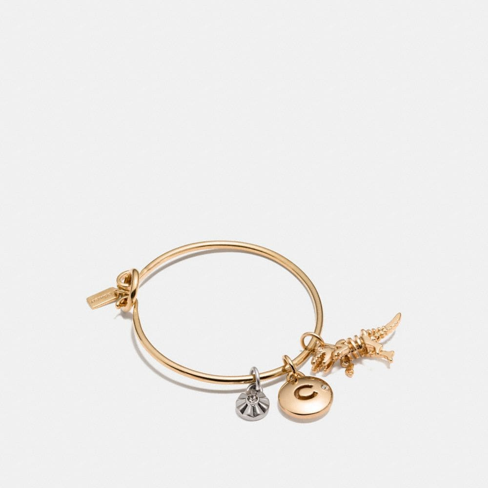 REXY COACH DISC HOOP BANGLE CHARM SET