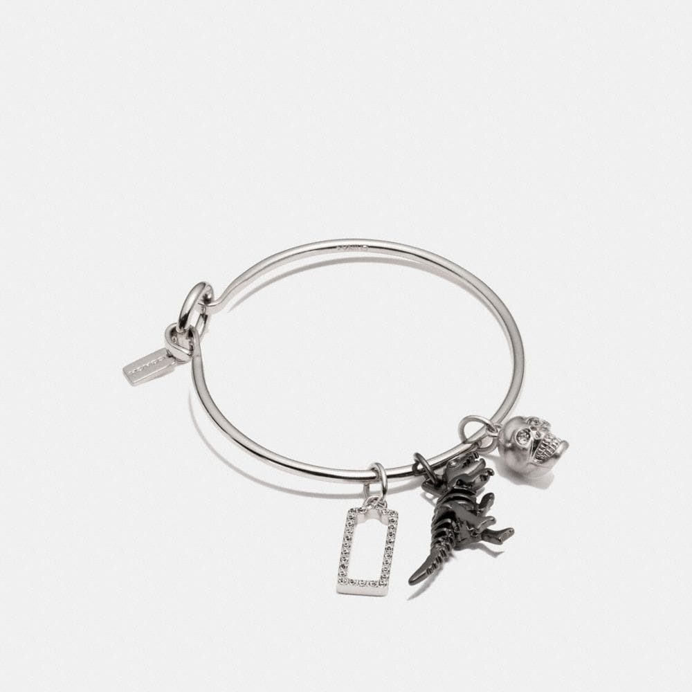 REXY SKULL HOOP BANGLE CHARM SET