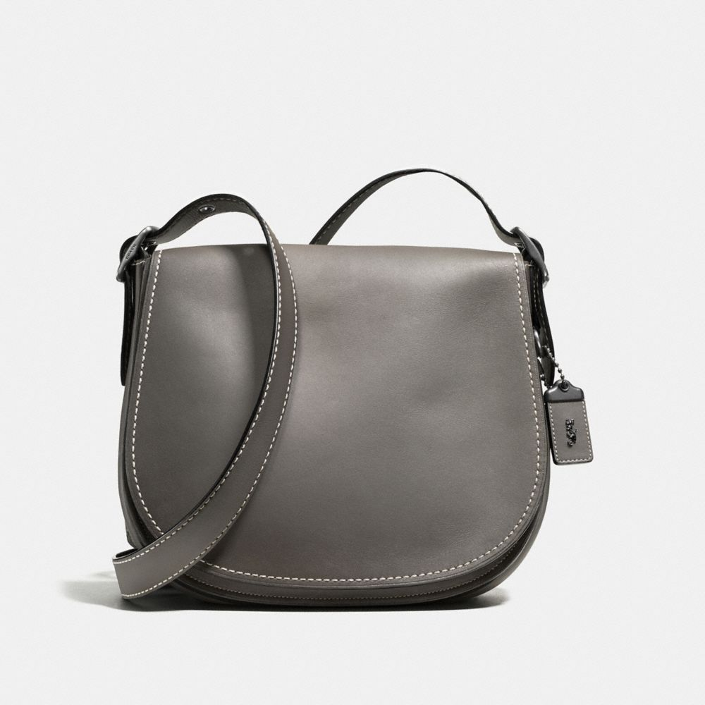 SADDLE BAG IN GLOVETANNED LEATHER