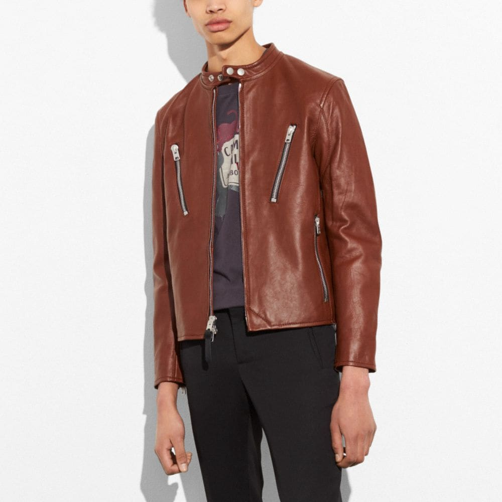LEATHER RACER JACKET