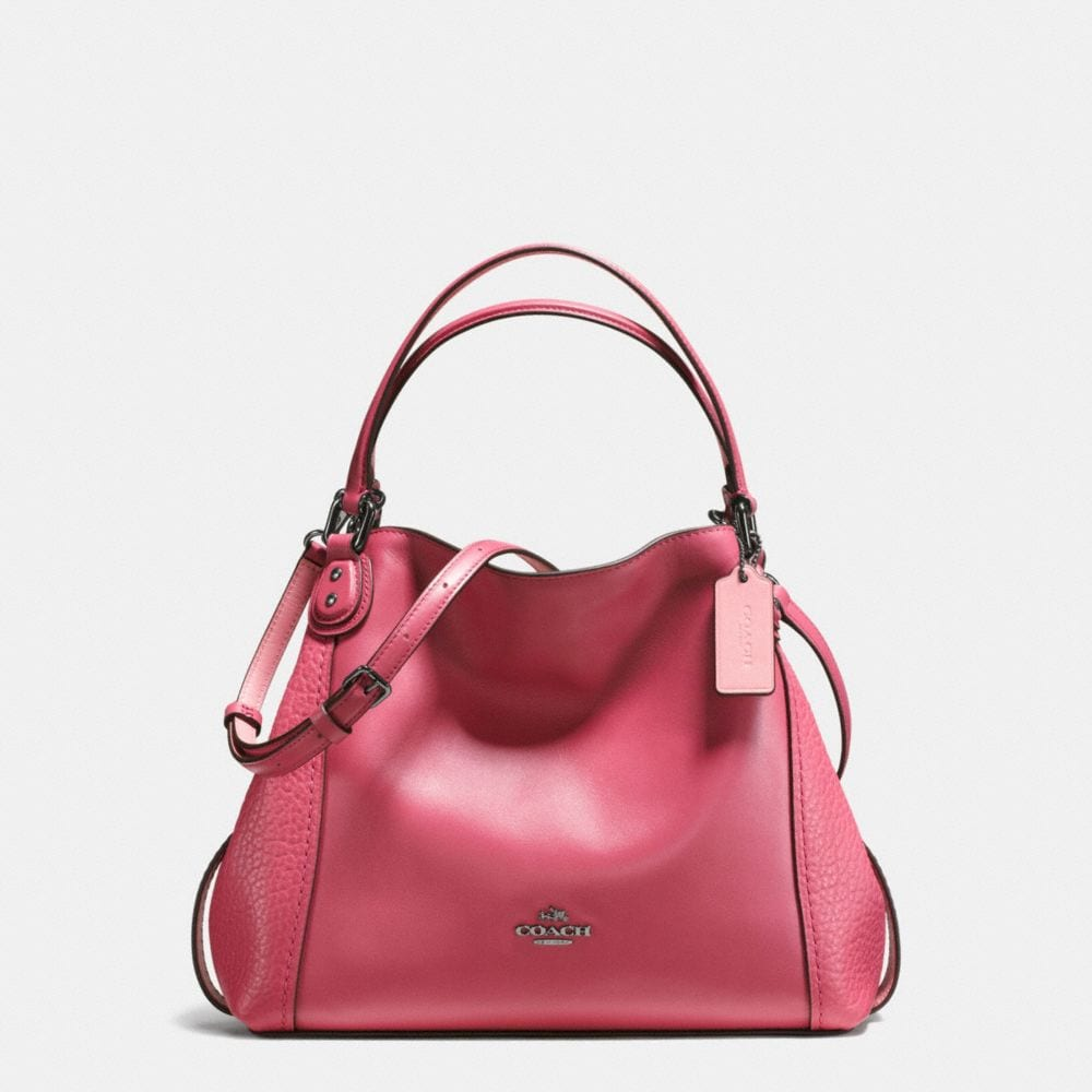 EDIE SHOULDER BAG 28 IN MIXED LEATHERS